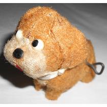 Cachorro Saltador Brinquedo De Lata À Corda Antigo Vintage