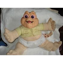 Boneco Baby Da Família Dinossauro Antigo Falando