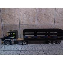 Caminhão Brinquedo Madeira Artesanal Scania Carreta Menino