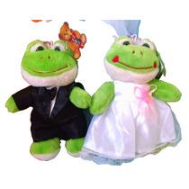 Sapo De Pelúcia Noiva Noivo Casal Casamento Presente Buquê