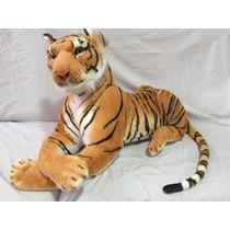 Tigre De Pelúcia Grande 90cm - Ideal Para Decoração E Festas