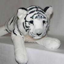 Filhote De Tigre Branco De Pelúcia Safari - 60cm