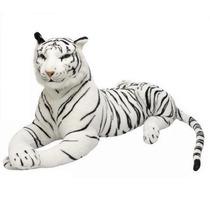 Enorme Tigre Branco Pelucia Com 1 Metro E 65 Cm Total