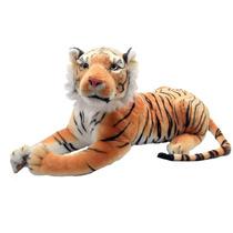 Tigre Grande Extra Safari Zoológico Bicho Pelucia