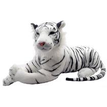 Tigre Branco De Bengala Grande Safari Zoológico Bicho Peluci