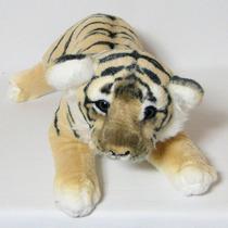 Tigre De Pelúcia Filhote Fofy - 48cm - Marrom