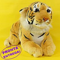 Bicho De Pelúcia Tigre Filhote 48cm Antialérgico