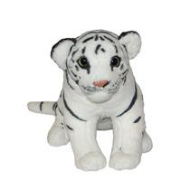 Tigre Branco De Pelúcia - Filhote - Sentado