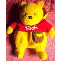 011 Brq- Mochila- Urso Pooh De Pelúcia- 44 Cm