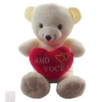 Urso Namorado Coração Frases Médio Pelucia Amo Você !