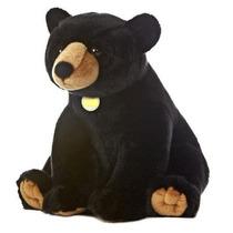Urso Realistico Preto Europeu Filhote Elegance Novo Pelucia