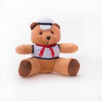 Ursinho Urso Marinheiro Em Pelúcia Com 20cm Sentado