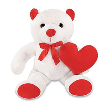 Urso Ted Bear Xonado Pelucia Branco 55cm Sentado Antialergic