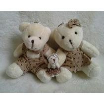 Familia Mini Urso Pelucia
