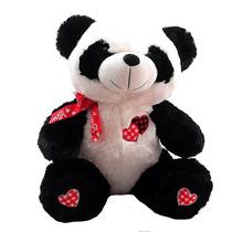Urso Panda Amor Com Laço Namorados Grande Bicho Pelucia