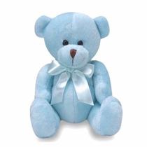 Ursinho De Pelúcia Batutinha Azul Buba Toys Com Laçinho