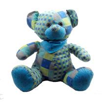 Urso Grande Color Blue Em Tecido Bicho De Pelúcia