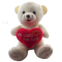 Urso Namorado Coração Frases Médio Pelucia Sou Louco Por ...