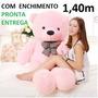 Urso De Pelúcia Rosa Gigante Grande 140cm 1,4m + Enchimento