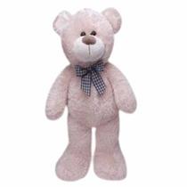 Urso De Pelúcia Brilhante Grande 61 Cm C/ Laço Buba Toys