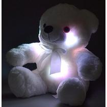 Ursinho De Pelúcia Minha Luz Branco Rgb Buba Toys Display