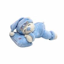Pelúcia Urso Amigo Do Sono Com Travesseiro - Azul