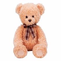 Urso De Pelúcia Companheiro Bege 29 Cm C/ Laço Buba Toys
