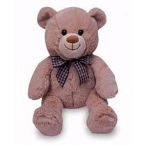 Ursinho De Pelúcia Marrom Happy Teddy P Buba Toys