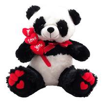 Urso Panda I Love You Namorados Bicho Pelucia
