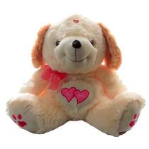 Cachorro Laço Rosa Coração Bicho Pelucia Namorados