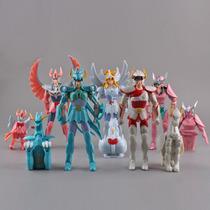 Kit 5 Cavaleiros Do Zodiaco Articulados Anime Cdz 15 Cm
