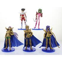 Kit C/ 5 Cavaleiros Dos Zodíaco Cdz Figures Bonecos 15cm