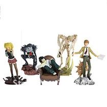 Death Note Kit 5 Bonecos Anime Kira L Misa Rem Ryuk
