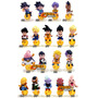 103 Bonecos Miniaturas Dragon Ball, Naruto, Final Fantasy!