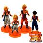 Coleção Dragon Ball Kit Com 4 Pcs Goku Gogeta Vegeto Gotenks