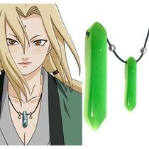 Colar Tsunade Naruto Cosplay Pedra Verde