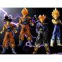 4 Bonecos Dragon Ball - Action Figures Goku Efeito Transpare