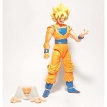 Boneco Dragon Ball Z Son Goku Super Sayajin 14 Cm Articulado