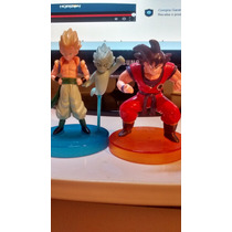 Bonecos Dragon Ball Z Goku Sayajin Gotenks Fixos Com Base