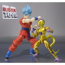 Bonecos Figuarts Goku God + Golden Frieza Freeza Dragonball