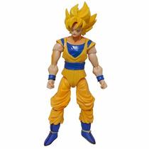 Boneco Goku Super Sayajin Totalmente Articulável