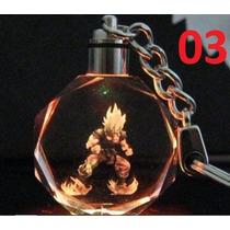 Chaveiro Dragon Ball Z Goku Super Saiyajin Led Cristal