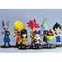 Kit 8 Miniaturas Dbz Goku, Vegeta, Pan, Bills E Outros