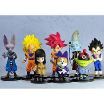 Kit 8 Miniaturas Dbz Goku, Vegeta, Pan, Bills E Outros