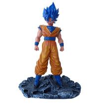 Goku Dragon Ball Z Sayagin Deus Cabelo Azul - 40 Cm