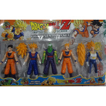 Kit Com 5 Bonecos Articulados Dragon Ball Z