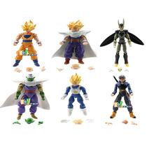Kit Com 6 Bonecos Dragon Ball Z Kai Dbz Goku Vegeta Gohan