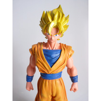 Boneco Goku Dragon Ball Super Sayagin - Em Resina