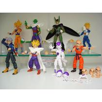 Dragon Ball Z Kuririm Goku Frezza 8 Bonecos Articuláveis
