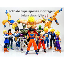 Kit Com 5 Bonecos Articulados Action Figures Dragon Ball Z
